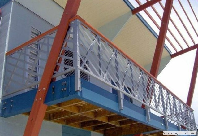 Global metal works erectors inc tacoma washington for Metal balcony
